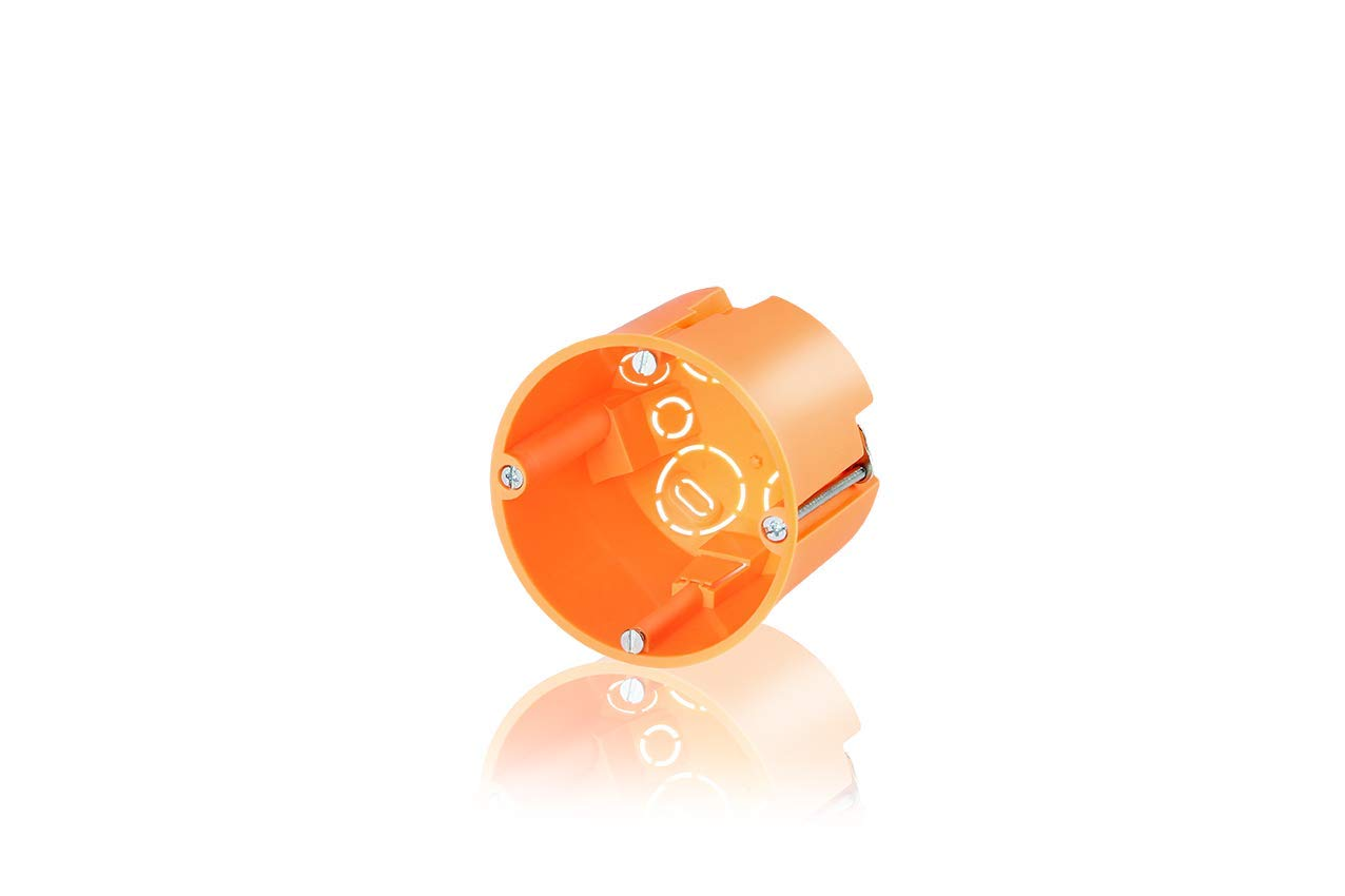 Hohlwanddose mit Metallkrallen orange 61mm tief Frä sloch 68mm (25 Stü ck) f-tronic