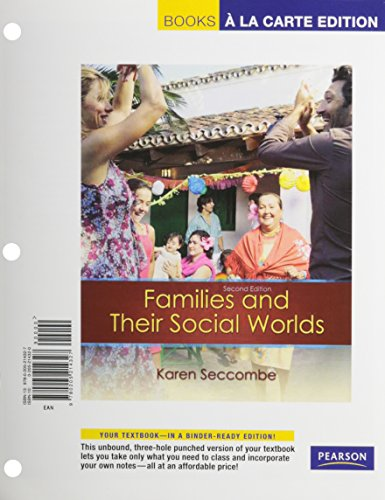 Families and Their Social World Books a la Carte Plus NEW MySocLab with eText -- Access Card Package