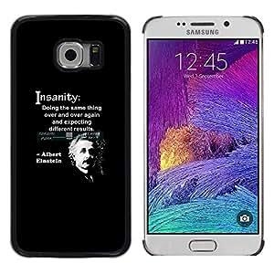 FlareStar Colour Printing Albert Einstein Quote Science Scientist cáscara Funda Case Caso de plástico para Samsung Galaxy S6 EDGE / SM-G925 / SM-G925A / SM-G925T / SM-G925F / SM-G925I