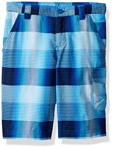Columbia Boys Silver Ridge Printed Shorts, Super Blue Plaid, X-Small by Columbia