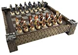 Japanese Samurai Warrior Oriental Chess Set w/ 17' Castle Fortress Board