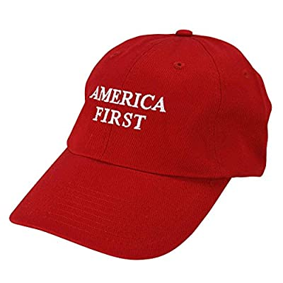 America First Hat Embroidered Cap Donald Trump Baseball Trucker Cap Red White Blue