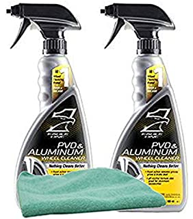 Eagle One PVD & Aluminum Wheel Cleaner (23 oz.) Bundle with Microfiber Cloth