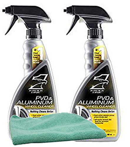 Eagle One PVD & Aluminum Wheel Cleaner (23 oz.) Bundle with Microfiber Cloth (3 Items)