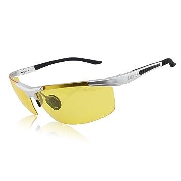 Les verres de vision nocturne ont polarisé autour des lunettes de prescription (gris/gris) r3zLHxZvlo