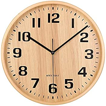 Country Rustic Style Battery Operated Non Ticking Quartz Analogy Wall Clocks For Kitchen Bedroom Living Room 8 Inch Small Wood Wall Clock Home Kitchen Handmade Products Guardebem Com