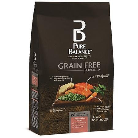 Pure Balance Grain Free Formula, Salmon & Pea Recipe, Dog Food, 4 lbs