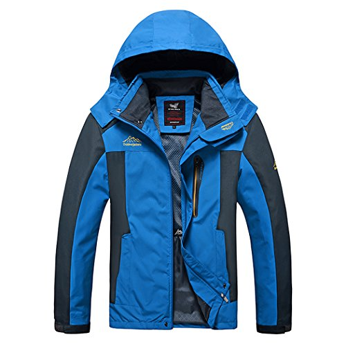 Houdini Zip (Modern Fantasy Mens RMK SOAP Bar Breathable Waterproof Outdoor Sport Jacket Blue Size US 5XL)
