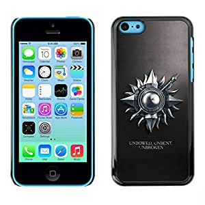 Paccase / SLIM PC / Aliminium Casa Carcasa Funda Case Cover para - Unbowed Unbent Unbroken - Apple Iphone 5C