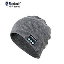 CoCo Fashion Wireless Bluetooth Music Beanie Hat Cap Built-in Stereo Speakers for Winter Sports Fitness Casual Activities Christmas Gifts