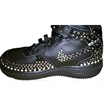1ad39d42c Image Unavailable. Image not available for. Color: Black Blinged Out Nikes. Prima  DND