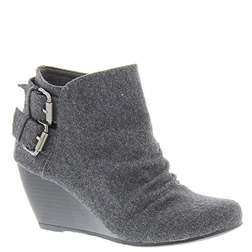 Flannel Ankle Boots - Blowfish Women's Bug Grey Two-Tone Flannel Boot 11 M