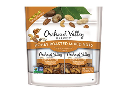 Orchard Valley Harvest Honey Roasted Mixed Nuts Trail Mix (15 x 1.0oz bags) (Almonds, Peanuts, Pecans & (Mix Honey Nut)