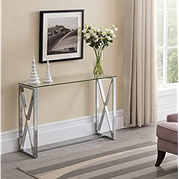 Amazon Com Mirrored Entry Table Modern For Entrance