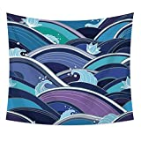 kaige Tapestry Sea Flower Painting Picture Tablecloth Beach Towel