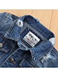 Baby Boys' Basic Denim Jacket Button Down Jeans
