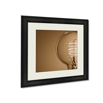 30x30 picture frame painting ashley framed prints light bulb wall art home decor sepia 30x30 frame amazoncom decor