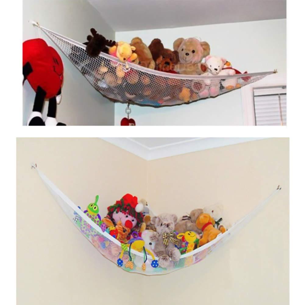 60 Ruiting Children Toy Hammock 80 60cm Stuffed Toy Storage Net Organizer with 3 Sucker Kids Toy Storage Hammock