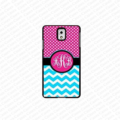 krezy case monogram Galaxy Note 4 case- monogram Personalized pink polka dot with blue chevron samsung Galaxy...