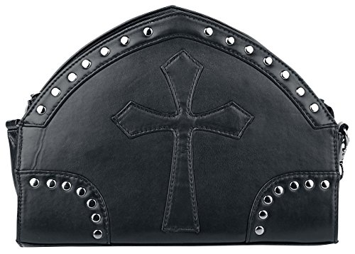 Banned Black Cross Handbag Bolso Negro Negro