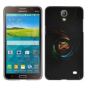// PHONE CASE GIFT // Duro Estuche protector PC Cáscara Plástico Carcasa Funda Hard Protective Case for Samsung Galaxy Mega 2 / Tiger Power /