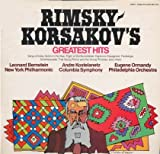 Rimsky-Korsakov's Greatest Hits, (1st LP) Grieg's Greatest Hits (2nd LP) Bernstein, Philippe Entremont, Kostelanetz, Ormandy, Szell, NY Phil., Columbia Symp. Phil Orch. Cleveland Orch & Symph.