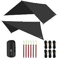 Rottay Waterproof Camping Tarp, Multifunctional Tent Footprint for Camping, Sunshade, Hiking, Survival Gear, Lightweight…