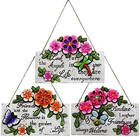 Amazon Com Garden Collection Spring Cement Hanging Plaque With