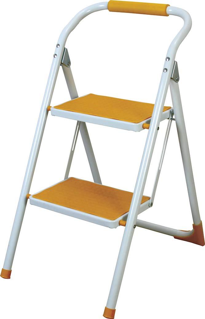Azumaya taburete de paso plegable escalera amarillo lfs-007ye