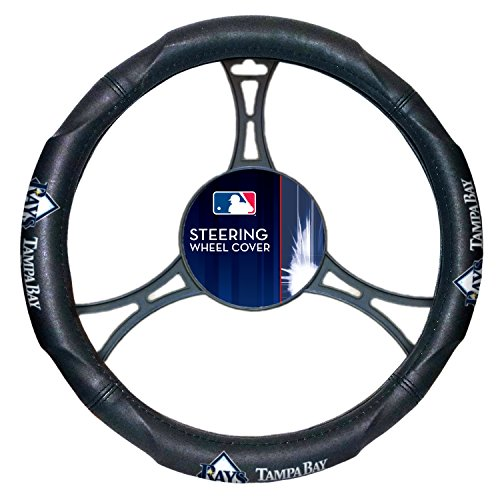 - Rays OFFICIAL Major League Baseball, Steering Wheel Cover (Made to fit 14.5-15.5 steering wheels)