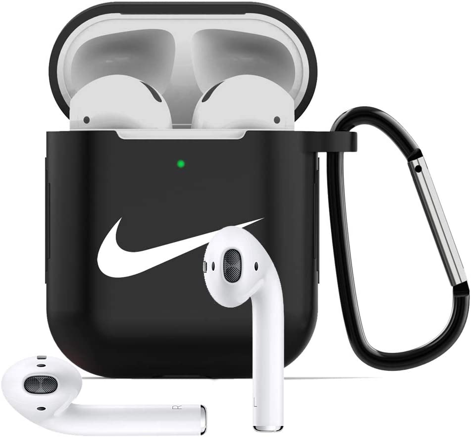 A Airpods Case Protective Silicone Cover and AirPods Accessories Case Skin Compatible with AirPods 2 and 1 case