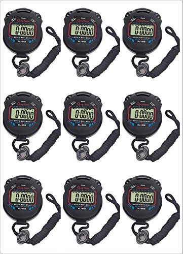 Fomatrade pack of 10pcs/lot Digital Handheld Multi-function Professional Electronic Chronograph Sports Stopwatch Timer Stop Watch (XL-013) by FomaTrade