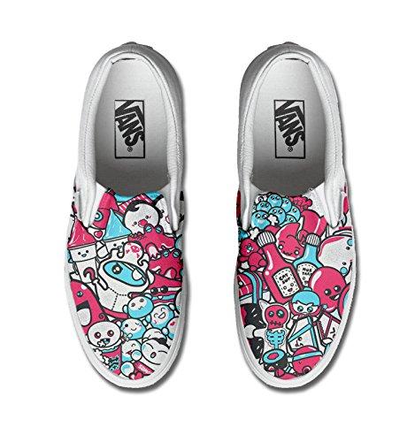 con Unisex - Adulto Make Your Shoes vans stampa artigianale personalizzata prodotto life tg
