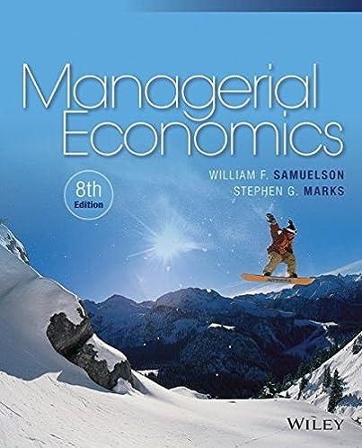 managerial economics 9781118808948 economics books amazon com rh amazon com Managerial Economics Fifth Edition Managerial Economics Profit Maximization