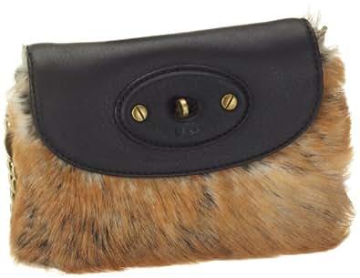 UGG Australia Women's Foxley Small Flap Casual Handbag,Black