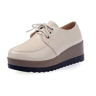 Mme printemps et l'automne Mme chaussures d'ascenseur chaussures de sport avec des chaussures pente muffin simples , US6.5-7 / EU37 / UK4.5-5 / CN37