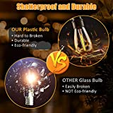 LED Outdoor String Lights 48FT with 15 Plastic