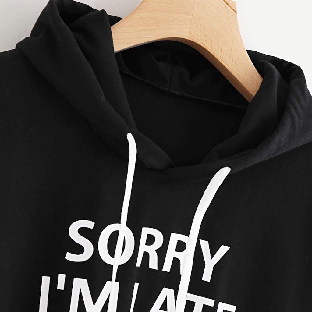 Hjcommed Womens Solid Long Sleeve Slit Back Pullover Casual Loose Hoodie Sweatshirt