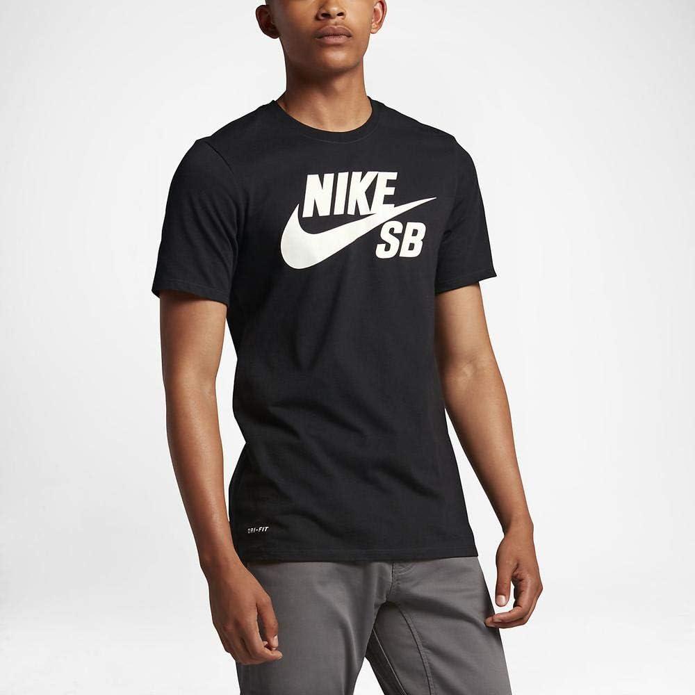 NIKE SB Logo tee Camiseta, Hombre, Negro (Black/Black/White), M ...