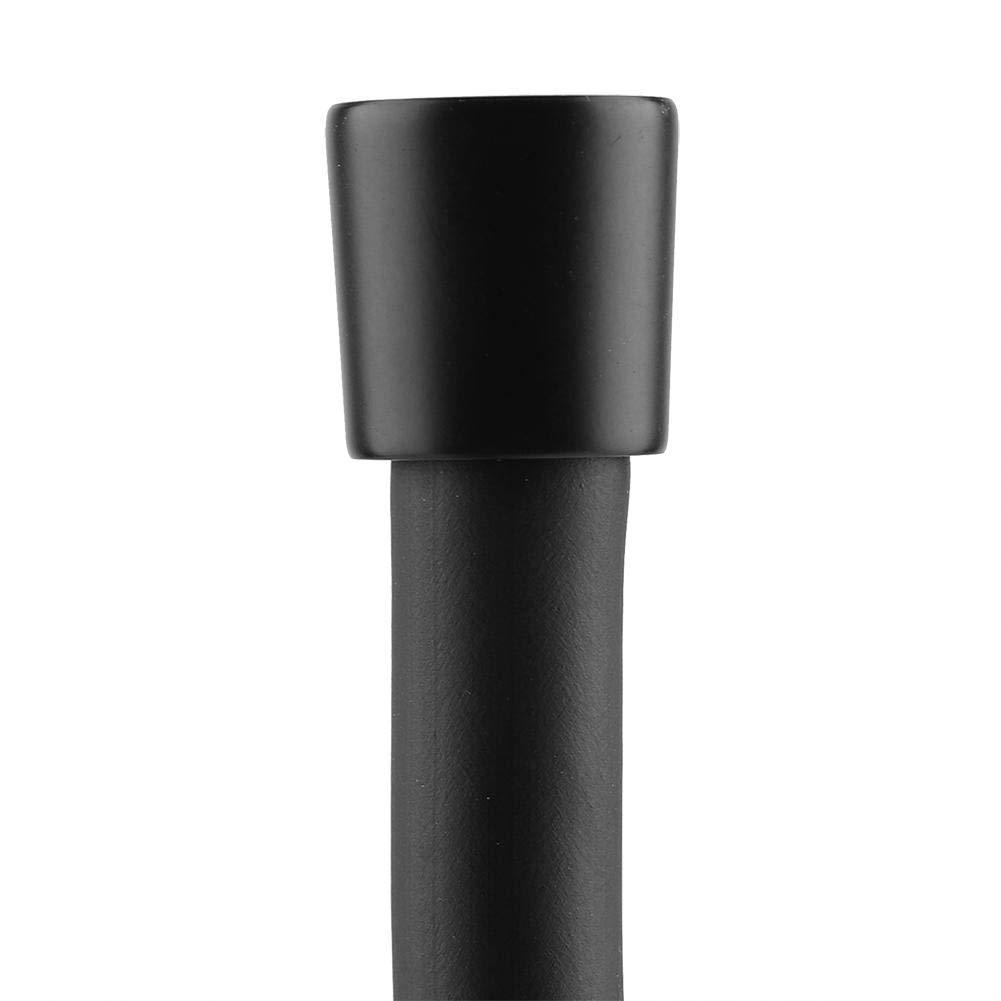 1.5m Tuyau de Douche Noir Long T/ête De Douche Tuyau Tubes Flexible Matte PVC Salle De Bains Toilette Pomme De Douche Poche De Douche Pulv/érisateur Extension De Remplacement Antid/éflagrant