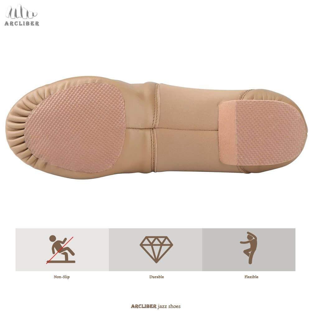 Dance Women//Mens Leather Slip-On Split Sole Jazz Shoe/…