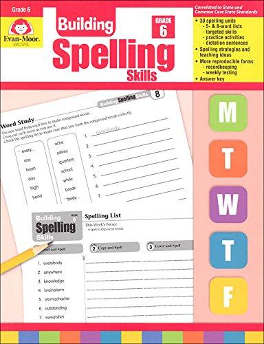 Amazon.com: Building Spelling Skills, Grade 6 (9781557998446 ...