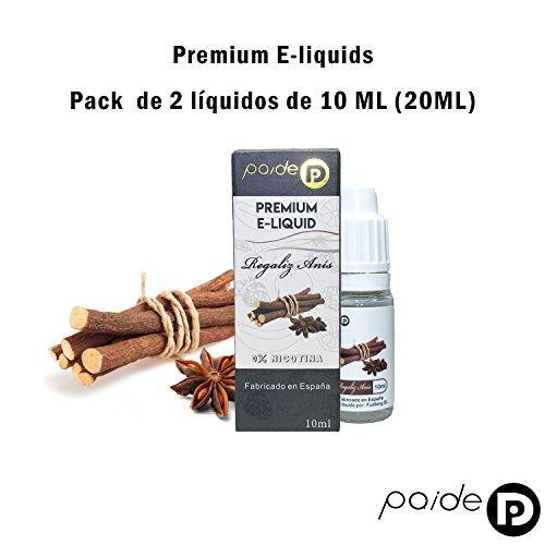 2 x 10ML Paide Premium E-Liquid - Sin nicotina - Líquido para cigarrillo electrónico - 50VG 50PG (Regaliz anis): Amazon.es: Salud y cuidado personal
