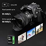 32GB SD Card, BOYMXU Professional 1000 x Class 10 SDHC UHS-I U3 Memory Card Compatible Computer Cameras and Camcorders, SD Memory Card Up to 95MB/s, Green/Black