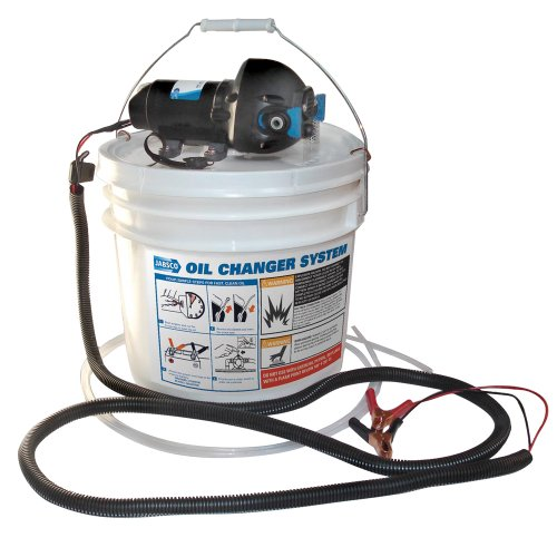 Jabsco DIY Oil Change System With Pump and 3.5 Gallon Bucket (Jabsco Oil Change System)