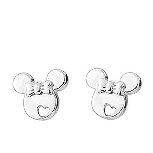 Boutique en ligne f6a66 1ddc1 Pendientes Findout. Pendientes de Mickey Mouse de plata de ley, para mujer  y niñas(s1480)