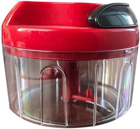 Picadora manual para carne, mini cortador de mano, robot de cocina, para frutas y verduras: Amazon.es: Hogar