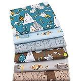 Aubliss 50pcs Quilting Cotton Craft Fabric Bundle