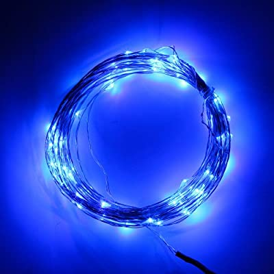 BINZET 10M 100LEDs USB DC 5V Light String DIY Novelty LED lights for Celebration Music Concert Wedding Birthday Party Kitchen Dinning Room Festival Decoration Blue USB Port USB Interface LED Flexbile Copper Wire Strip String Light