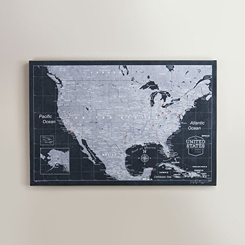 Amazon.com: USA Travel Map Pin Board - Modern Slate: Handmade